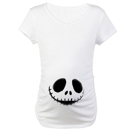 Skeleton Smiling Maternity T-Shirt