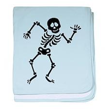 Dancing Skeleton baby blanket
