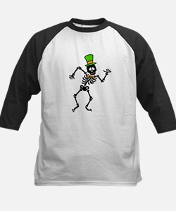 Dancing Skeleton Kids Baseball Jersey