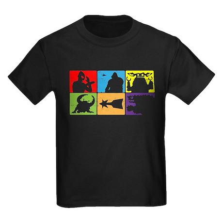 Saturday Morning Heroes & Mon Kids Dark T-Shirt