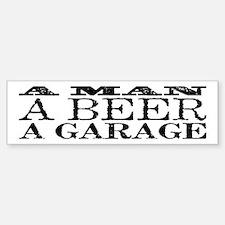 A Man, A Beer, A Garage Sticker (Bumper)