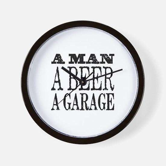 A Man, A Beer, A Garage Wall Clock