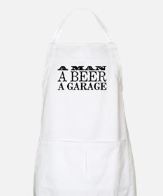 A Man, A Beer, A Garage Apron