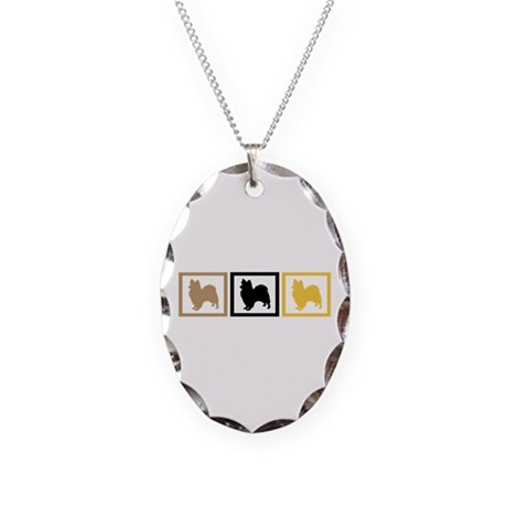 Papillon Necklace Oval Charm
