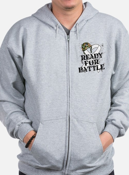Battle Lung Cancer Zip Hoody