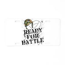 Battle Lung Cancer Aluminum License Plate