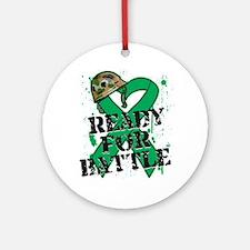 Battle Liver Cancer Ornament (Round)