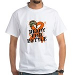 Battle Leukemia White T-Shirt