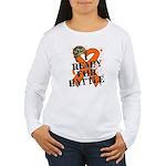 Battle Leukemia Women's Long Sleeve T-Shirt