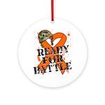Battle Leukemia Ornament (Round)