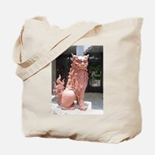 Red Shisa Tote Bag