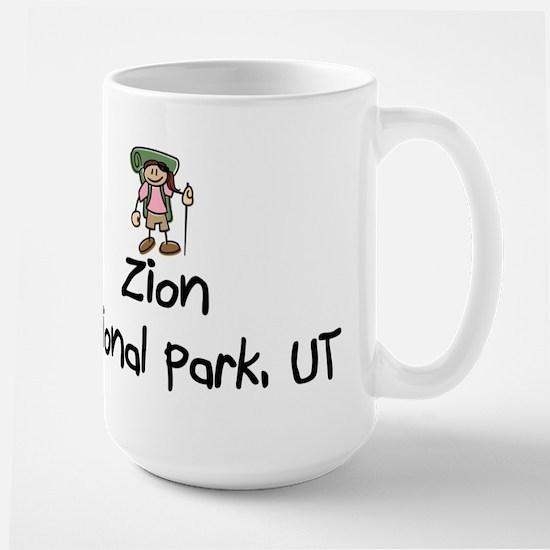 Zion National Park (Girl) Large Mug