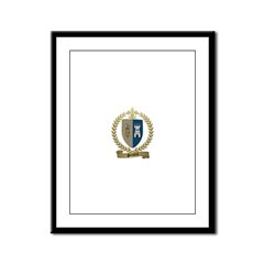 POTHIERS Family Crest Framed Panel Print
