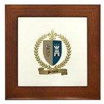 POTHIERS Family Crest Framed Tile