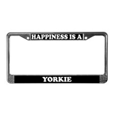 Happiness Is A Yorkie License Plate Frame