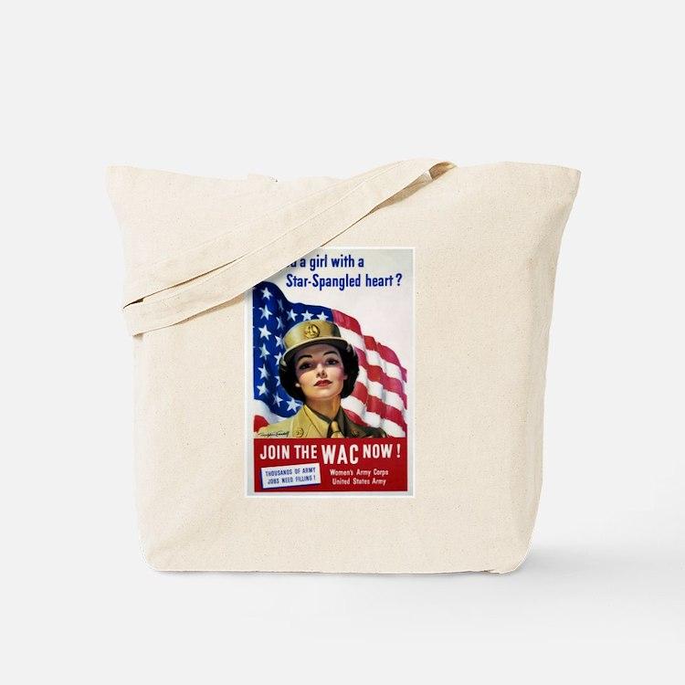 WAC Star-Spangled Heart Tote Bag