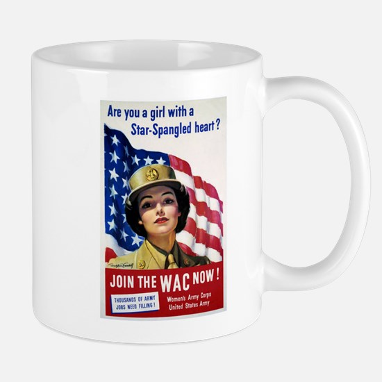 WAC Star-Spangled Heart Mug