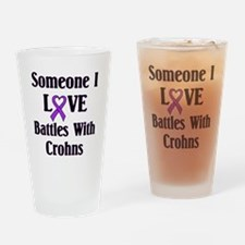 Crohns Drinking Glass