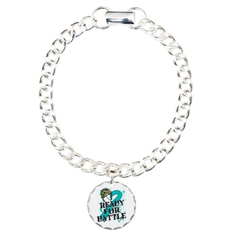 Battle Cervical Cancer Charm Bracelet, One Charm