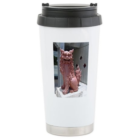 Red Shisa 2 Stainless Steel Travel Mug