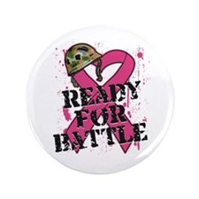 """Battle Breast Cancer 3.5"""" Button (100 pack)"""