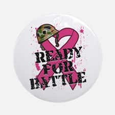 Battle Breast Cancer Ornament (Round)