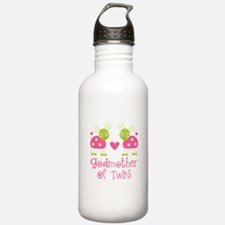 Godmother Of Twins Water Bottle