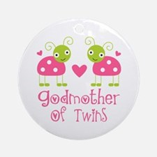 Godmother Of Twins Ornament (Round)