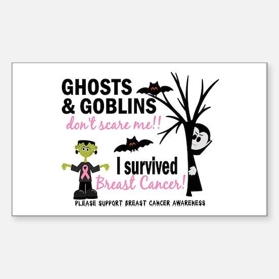 Halloween 1 Breast Cancer Sticker (Rectangle)