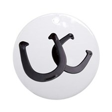 Lucky horseshoes Ornament (Round)