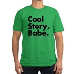 Cool Story Babe Men's Fitted T-Shirt (dark)