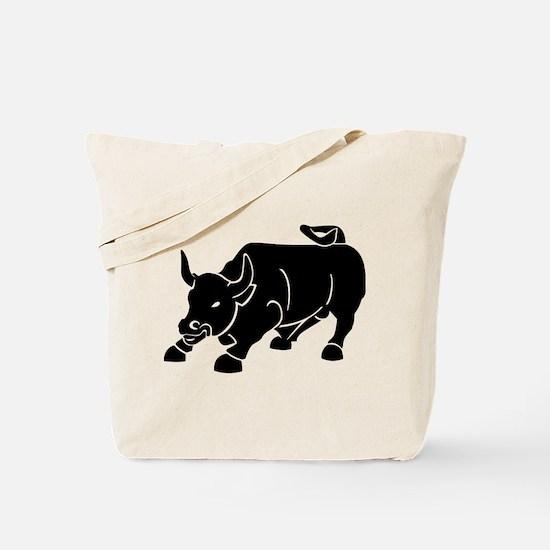 Angry Bull Tote Bag