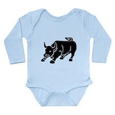 Angry Bull Long Sleeve Infant Bodysuit