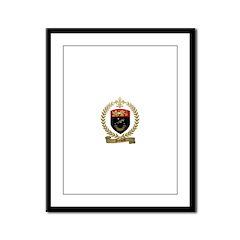DUMOND Family Crest Framed Panel Print