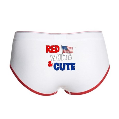 Red white and cute Women's Boy Brief