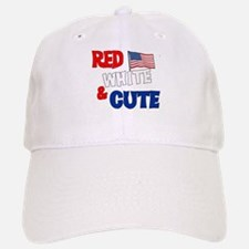 Red white and cute Baseball Baseball Cap
