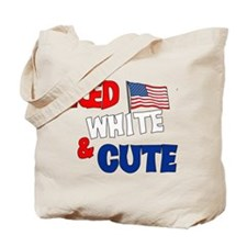 Red white and cute Tote Bag