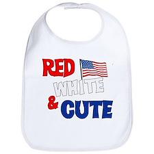 Red white and cute Bib