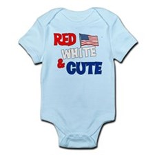 Red white and cute Infant Bodysuit