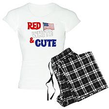 Red white and cute pajamas