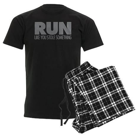 Run Like You Stole Something Men's Dark Pajamas