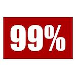 99 percent red bumper sticker