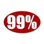 99 percent 38.5 x 24.5 Oval Wall Peel
