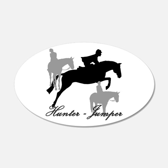 Hunter Jumper Trio Script Wall Decal