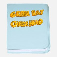 Cheesehead baby blanket