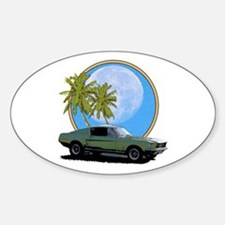 67 Mustang Sticker (Oval)