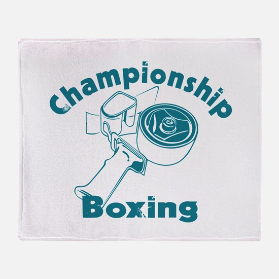 Packing Boxing Shipping Throw Blanket