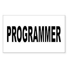 Programmer Sticker (Rectangle 10 pk)