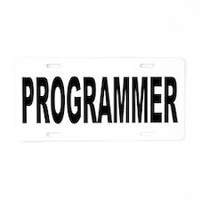 Programmer Aluminum License Plate