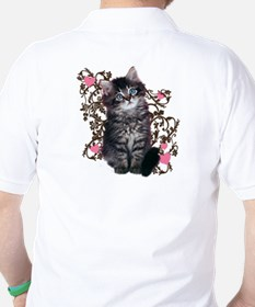 Cute Blue-eyed Tabby Cat T-Shirt